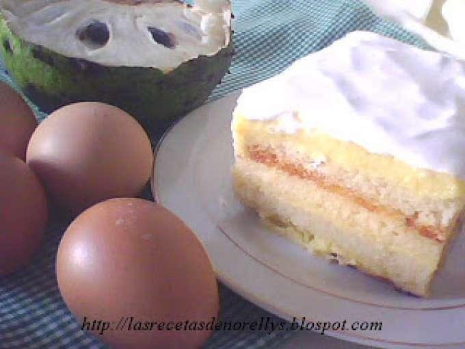 Como se prepara la torta de guanabana