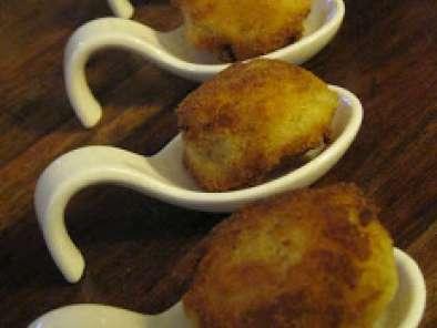 3 Tapas 3 Croquetas De Patata A Las Hierbas Rollitos De Salmón Y Manzana Y Matrimonios Receta Petitchef