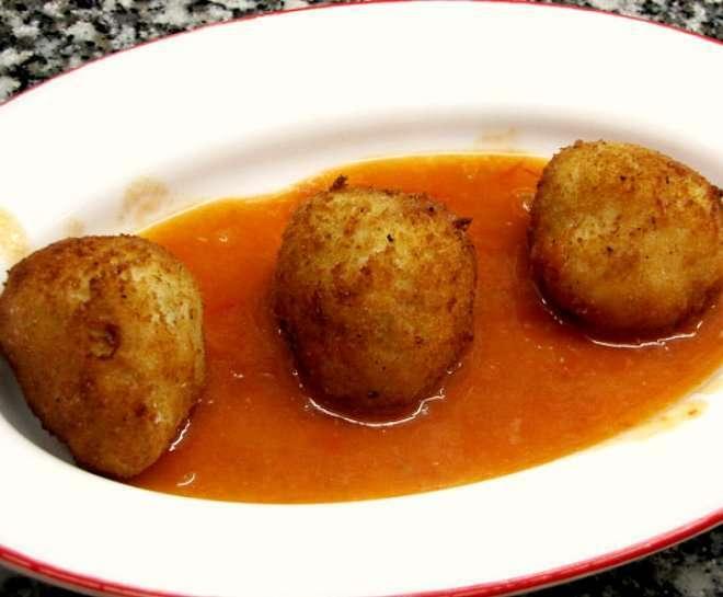 Alb ndigas de bacalao en salsa americana receta petitchef - Acompanamiento para albondigas ...