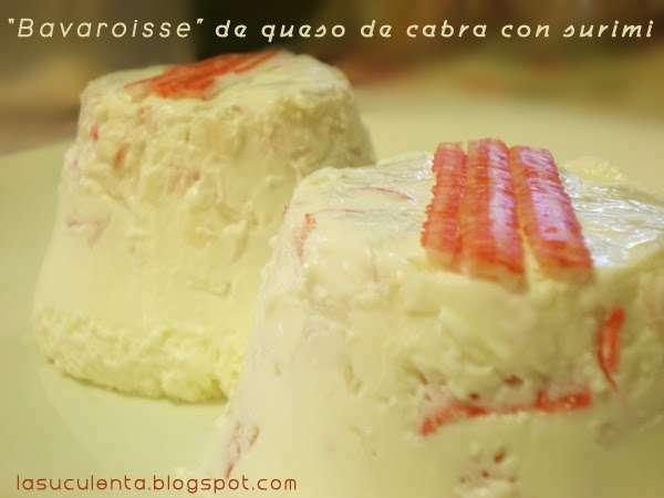Bavaroisse de queso de cabra con surimi de cangrejo for Cocinar queso de cabra