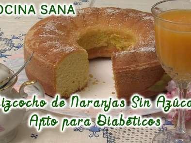 Bizcocho De Naranja Sin Azúcar Apto Para Diabéticos