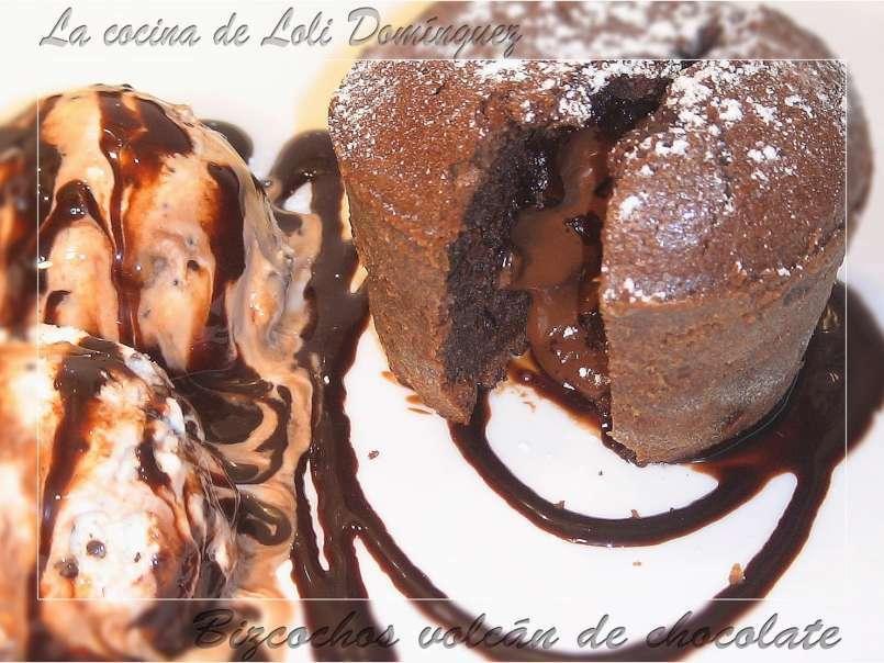 Receta volcan de chocolate 6 porciones