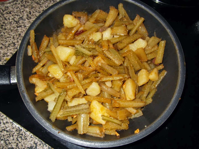 borraja con patata receta petitchef