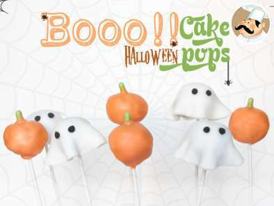 Cake pops con decoración halloween