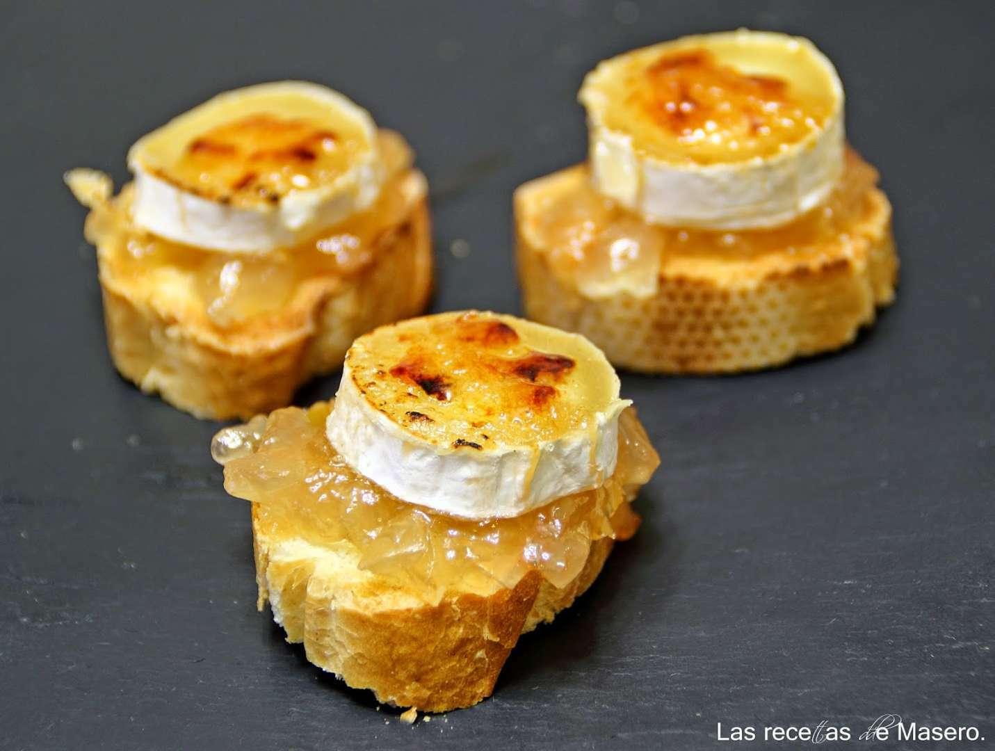 Canap de rulo de cabra caramelizado receta petitchef for Canape quiche recipe
