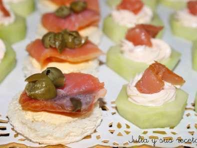 Canapes De Pepino Y Salmon Receta Petitchef - Receta-de-canaps