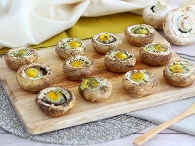 Champiñones Con Huevos De Codorniz