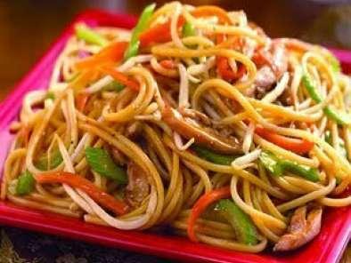 Chow Mien C Pollo Carne O Cerdo Receta Petitchef