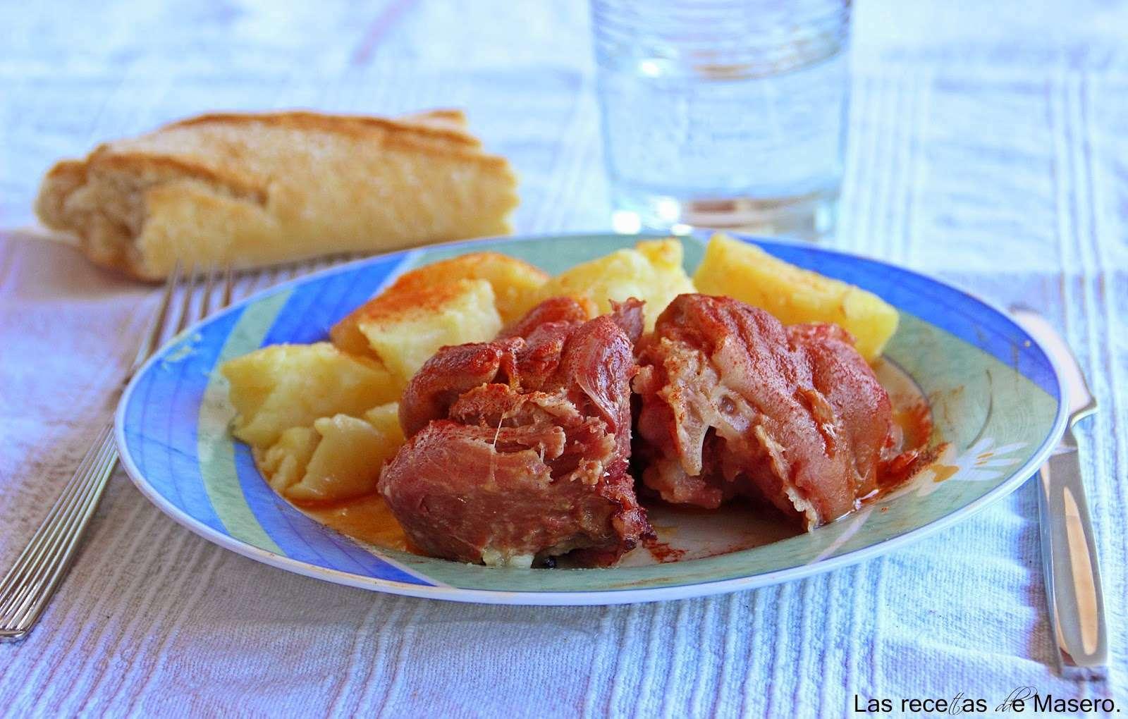 Codillo con patatas en olla a presi n receta petitchef - Cocinar con olla express ...