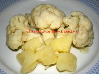 informacion nutricional coliflor hervida