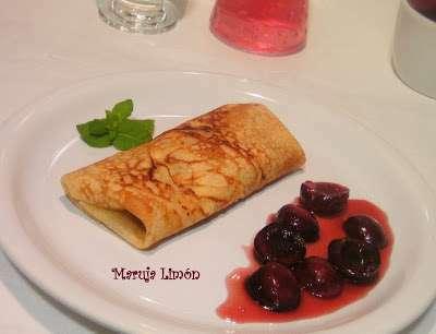 Crepes con salsa de picotas y miel receta petitchef for Salsa para crepes