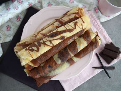 Crepes mármol bicolor (vainilla y chocolate), foto 3