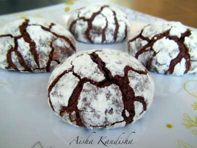 Crinkles de chocolate, galletas craqueladas