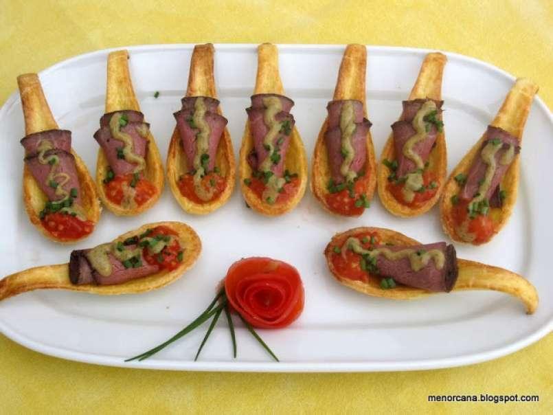 Cucharas De Masa Brisa Con Roastbeef