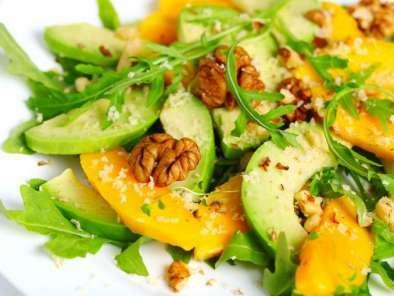 Ensalada de aguacate y mango con vinagreta Receta Petitchef