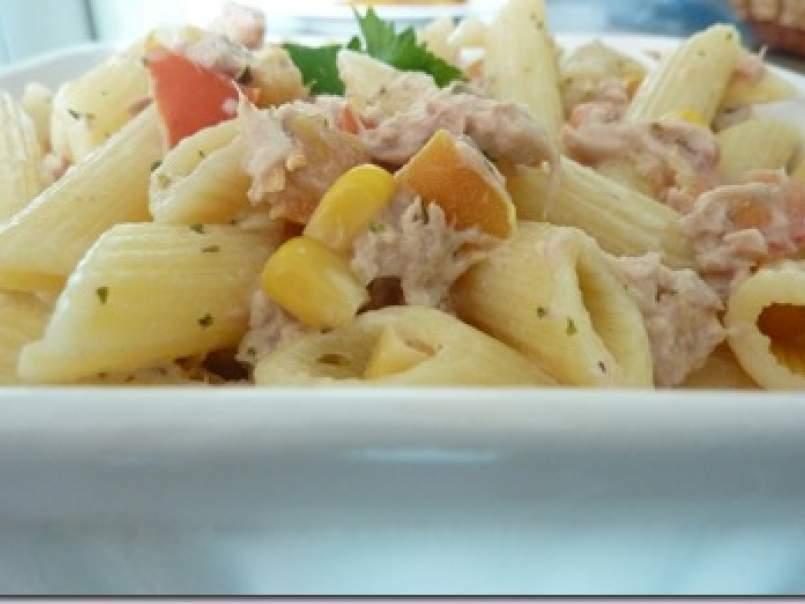 Receta para hacer ensalada de atun con pasta