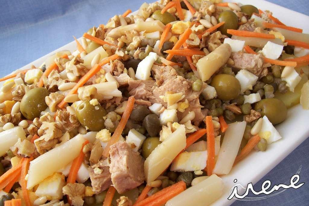 Ensalada de patata y lentejas de soja receta petitchef - Lentejas con costillas y patatas ...
