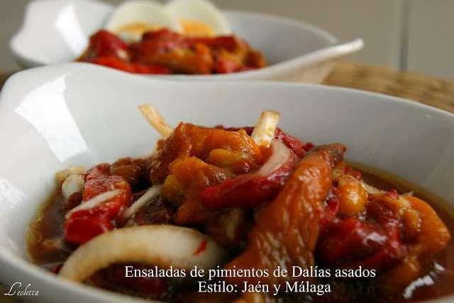 Ensalada de pimientos de dal as asados estilo ja n y - Cocinar pimientos asados ...