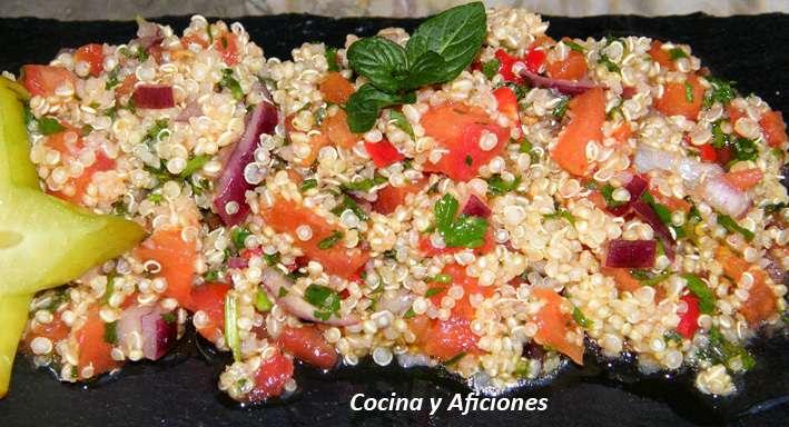 Ensalada de qu noa a las finas hierbas receta receta for Cocinar quinoa negra