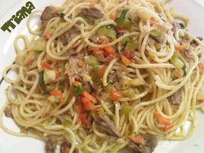 Espaguetis Con Melva Y Verduras