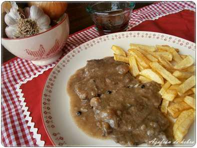 Filetes de ternera en salsa de cebolla Receta Petitchef