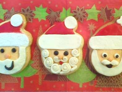 Galletas Decoradas Con Fondant Para Navidad Papa Noel