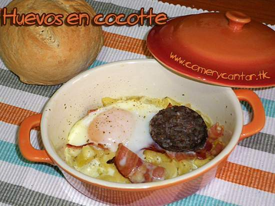 Huevos en cocotte receta petitchef - Cocinar en cocotte ...