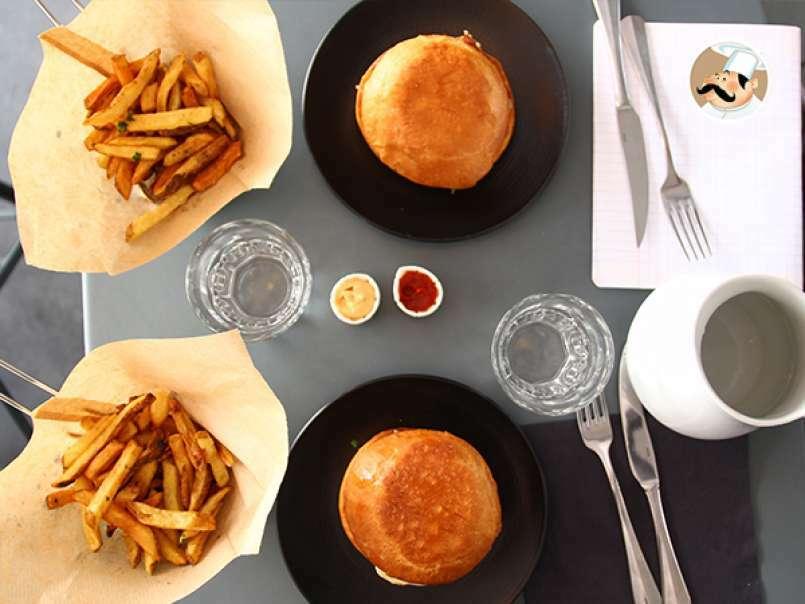 la hamburguesa de edmond burger receta petitchef. Black Bedroom Furniture Sets. Home Design Ideas