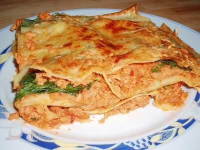 Lasa a de soja texturizada y espinacas receta petitchef for Cocinar soja texturizada