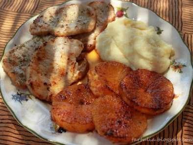 Lomo con naranja a la plancha y puré de piña, Foto 3