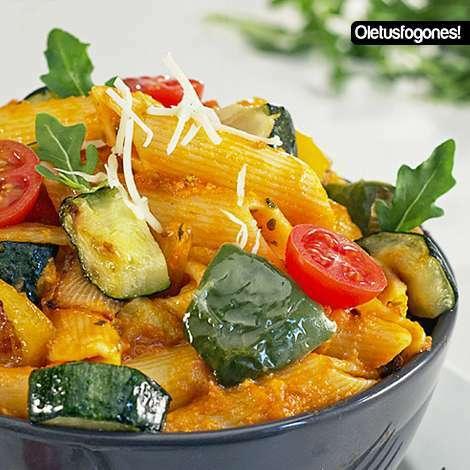 Macarrones con verduras al parmesano receta petitchef - Macarrones con verduras al horno ...
