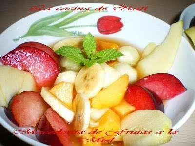 Macedonia de frutas a la miel receta petitchef - Macedonia de frutas thermomix ...