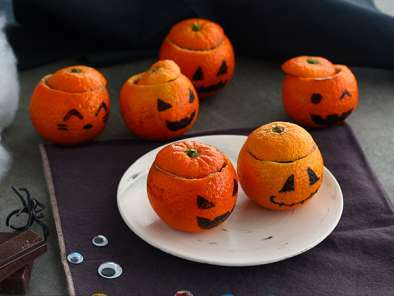 Mandarinas de Halloween con mousse de chocolate, foto 3