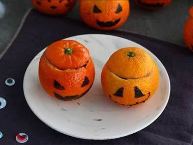 Mandarinas de Halloween con mousse de chocolate, foto 4