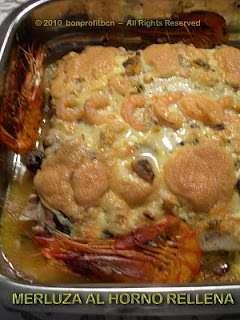 Merluza al horno rellena con salsa muselina receta petitchef - Merluza rellena de marisco al horno ...