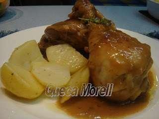 Muslos de pollo en salsa de manzana y champi ones receta for Muslos pollo en salsa