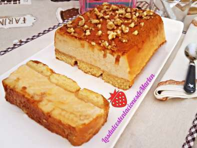Pastel de Magdalenas y Quesitos con Nueces