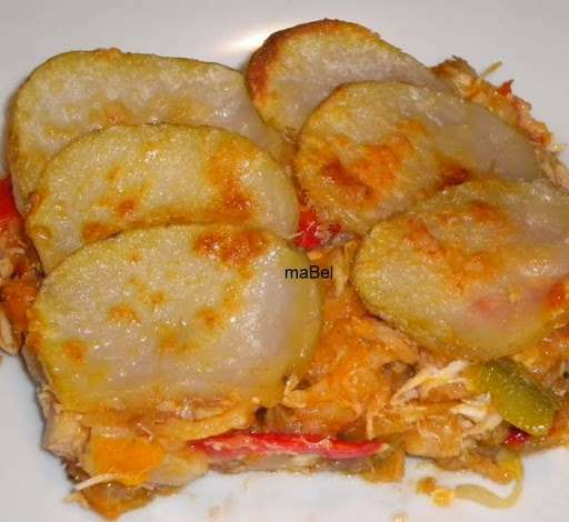 Pastel f cil con sobras de pollo receta petitchef - Pollo con almendras facil ...