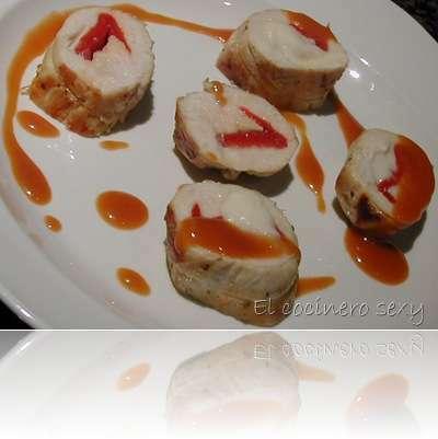 Pechugas de pollo rellenas con salsa agridulce receta - Platos con pechuga de pollo ...