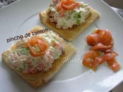 pinchos con salmon
