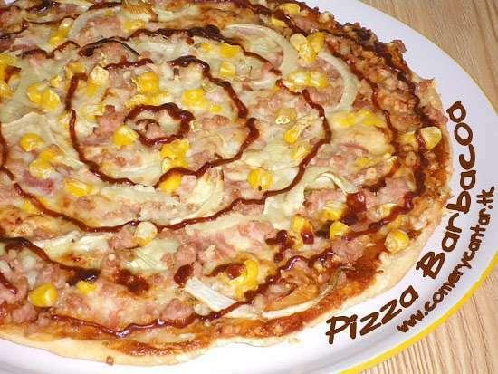 Pizza barbacoa receta petitchef for Aperitivos para barbacoa
