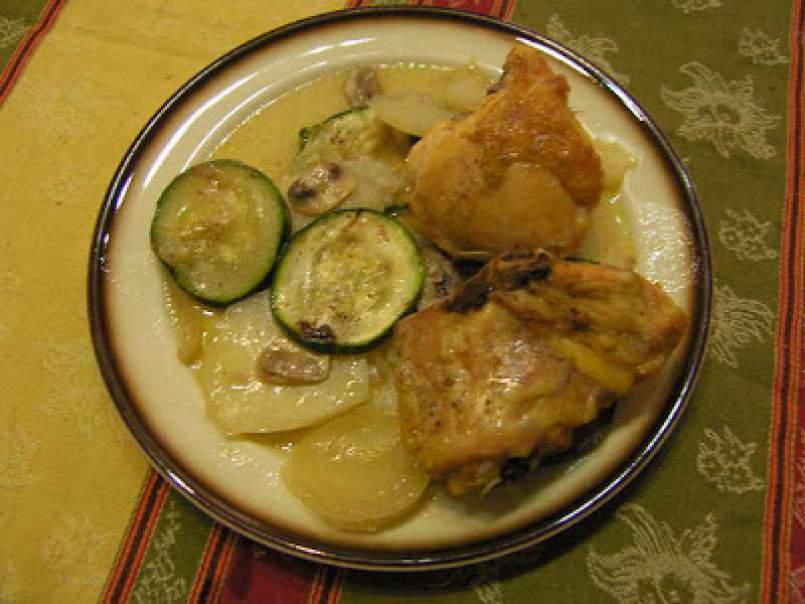 Receta con calabacin y patata