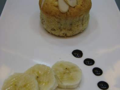 Ponquecitos de banana y yogurt