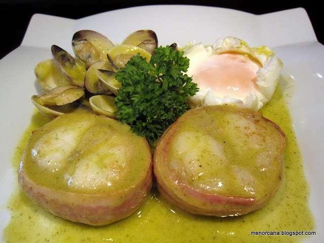 Popietas de rape con almejas y huevo en salsa verde receta petitchef - Almejas con salsa verde ...