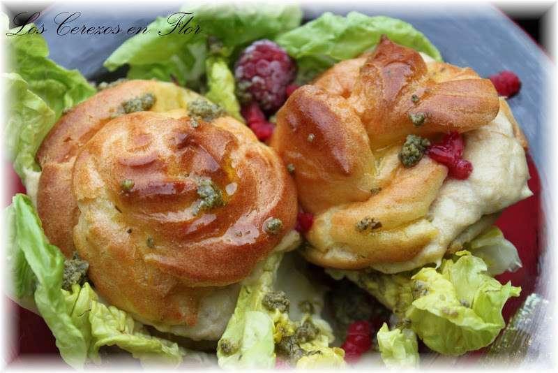 Profiteroles rellenos de brandada y vinagreta receta - Profiteroles salados rellenos ...