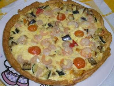 Quiche de verduras y gambas receta petitchef for Quiche de verduras facil