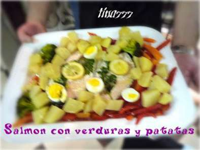 Salm n con verduras y patatas curso de cocina thermomix - Canal cocina thermomix ...