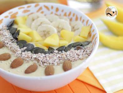 Smoothie bowl mango y plátano
