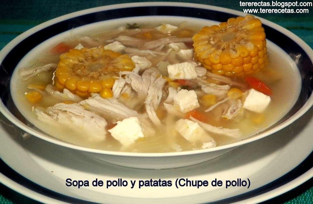 Sopa De Pollo Y Patatas Chupe De Pollo Receta Petitchef