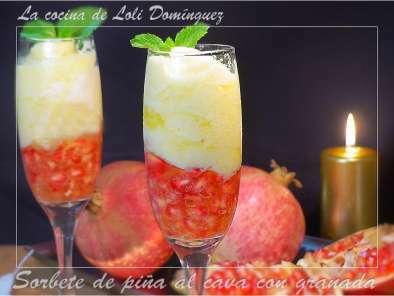 Sorbete De Piña Al Cava Con Granada Receta Petitchef